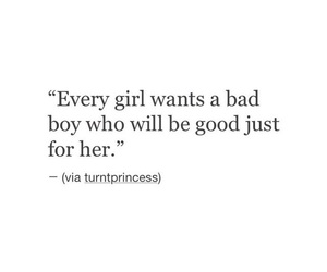 quote, bad boy, and girl image
