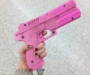 pink and gun image