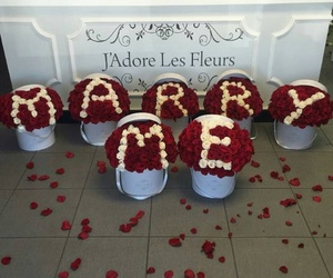 love, flowers, and marry me image