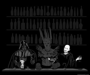 voldemort, darth vader, and harry potter image