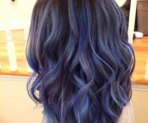 hair, girl, and violet image