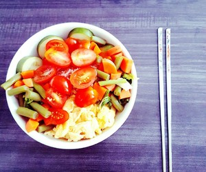 carrots, chopstick, and lunch image