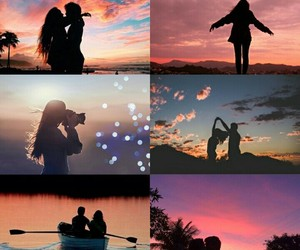 casal, fotografia, and montagem image