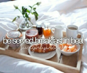bed, bucket list, and breakfast image