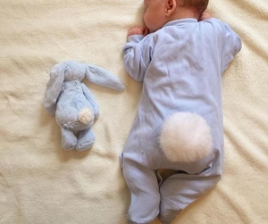 baby, bunny, and kids image