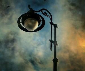 blue, night sky, and streetlamp image