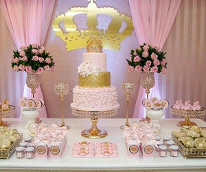 birthday, party, and pink image