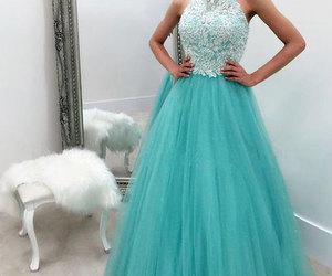evening dress, prom dress, and wedding dress image
