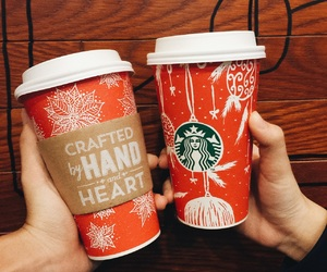 christmas, coffeeaddicted, and starbucks image