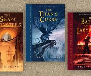 books, saga, and percy jackson image