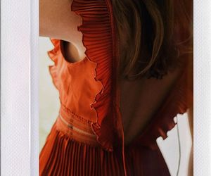 dress, fashion, and polaroid image