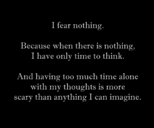 alone, fear, and nothing image