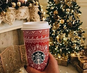 christmas, starbucks, and coffee image