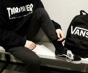 vans, black, and fashion image