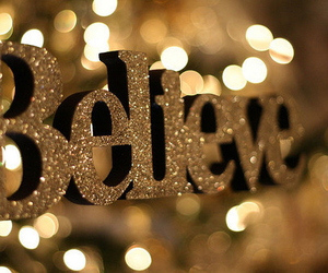 believe, glitter, and gold image