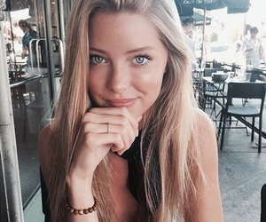 girl, blonde, and beauty image
