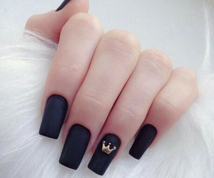 nails, black, and crown image