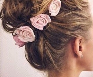 blonde, hairstyles, and rose image