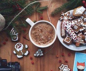 chocolate, coffee, and christmas image