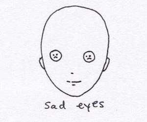 sad, eyes, and sad eyes image