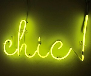 neon, chic, and light image
