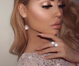 makeup, beautiful, and hair image