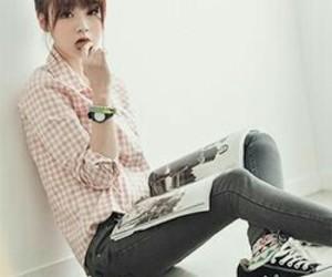 girl, ulzzang, and cute image