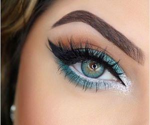eye, glitter, and mac image