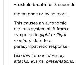 reminder, tumblr, and panic attack image
