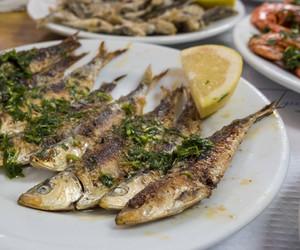 garlic, sardine, and grill image