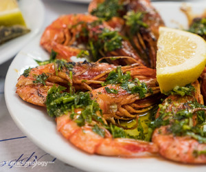 garlic, seafood, and grill image