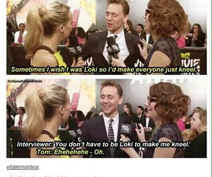 loki, tom hiddleston, and funny image