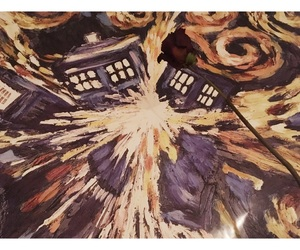 doctor who, rose, and tardis image