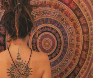 girl, tattoo, and mandala image