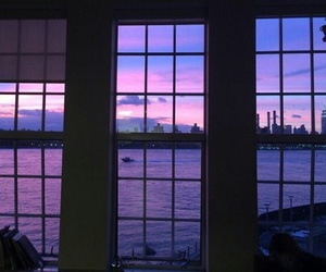 purple, sky, and sunset image