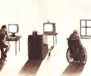 life, computer, and old image