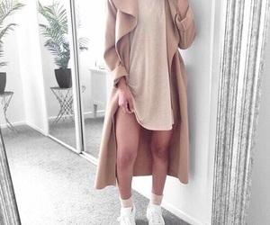 beige, coat, and dress image