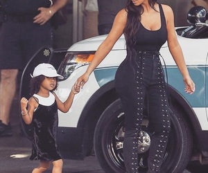 kim kardashian, north west, and style image