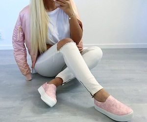 baby pink, fashion, and white image