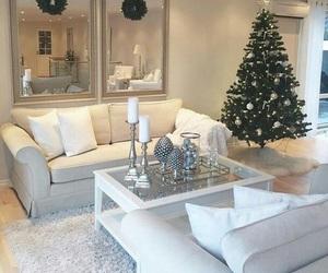 christmas, white, and interior image