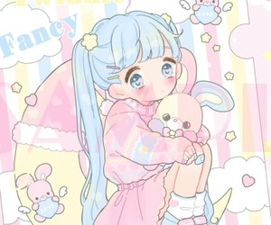 anime, little girl, and pastel art image