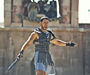 gladiator, russell crowe, and movie image