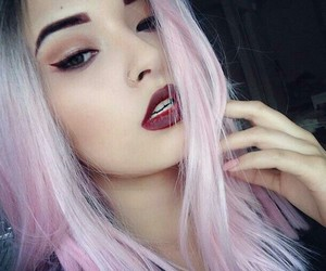 hair, pink, and hairs colors image