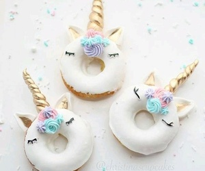 unicorn, donuts, and sweet image