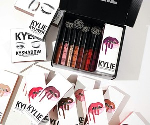eyeshadow, lipgloss, and makeup image