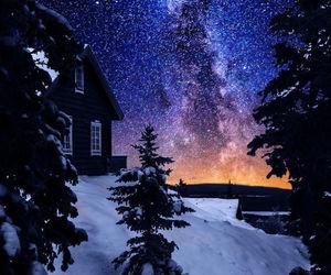 snow, stars, and beautiful image