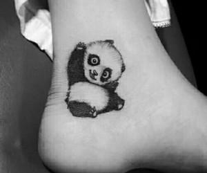 animal, tattoo, and 🐼 image