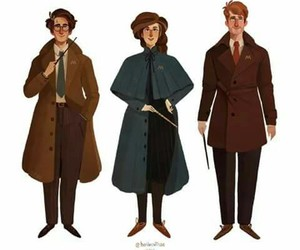harry potter, ron weasly, and hermiona grenger image