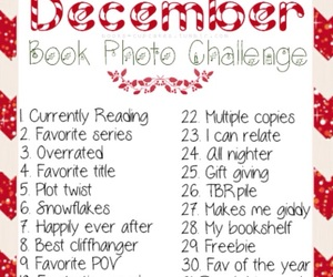 book, challenge, and december image
