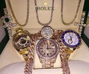 luxury, rolex, and diamond image